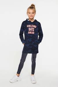 WE Fashion sweatjurk met tekst donkerblauw, Donkerblauw