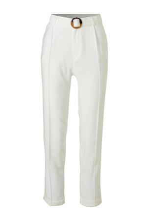 Yessica regular fit pantalon gebroken wit