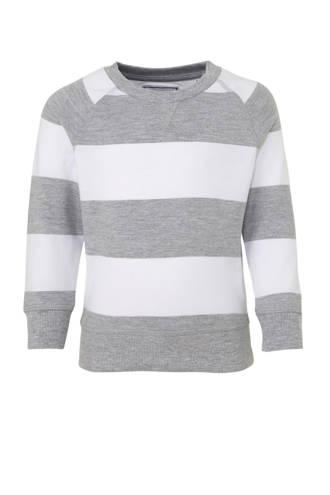 Palomino gestreepte sweater grijs/wit