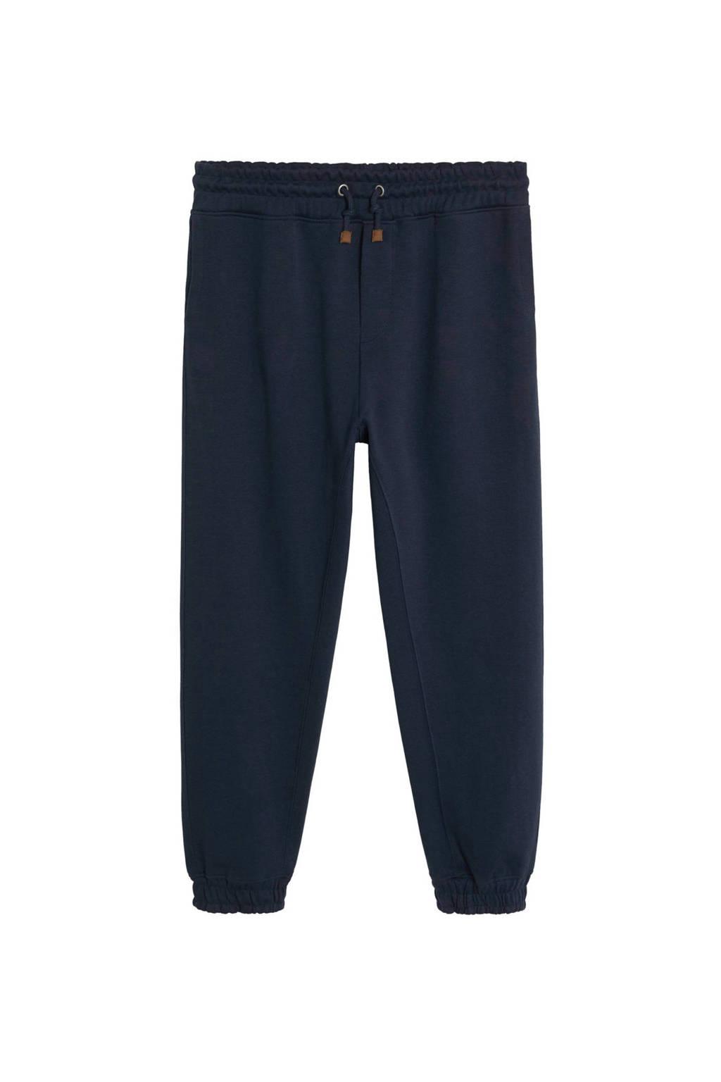 Mango Man pantalon in joggermodel, Marineblauw