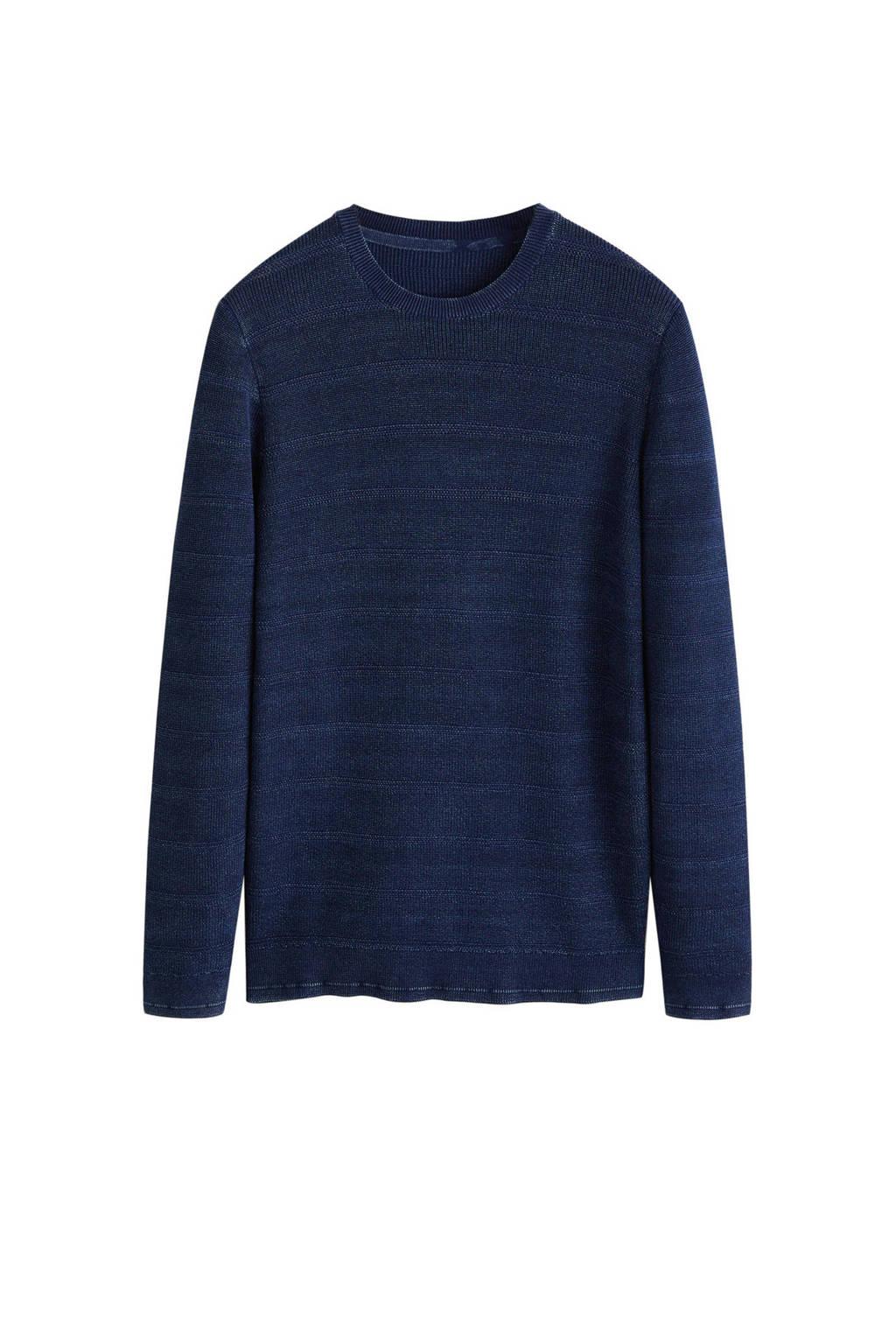 Mango Man trui middenblauw