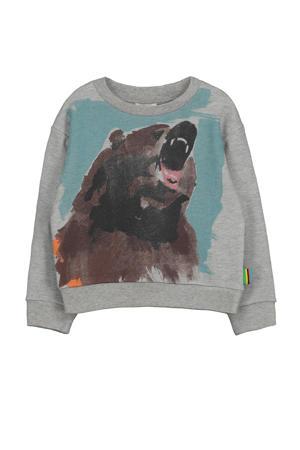 sweater Toon met printopdruk grijs