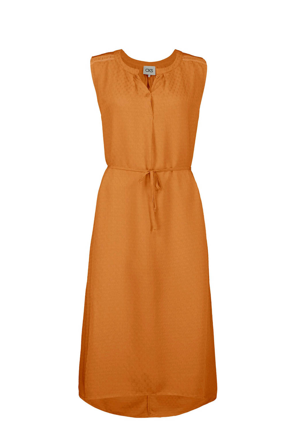 CKS jurk oranje, Cognac