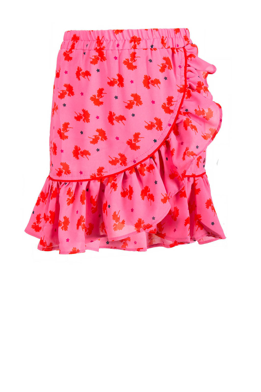 CKS KIDS gebloemde rok Ludmilla met volant roze, Roze
