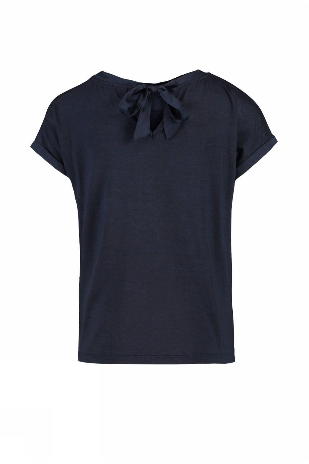 CKS KIDS T-shirt Hesira met pailletten donkerblauw, Donkerblauw