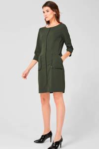 s.Oliver BLACK LABEL jersey jurk donkergroen, Donkergroen