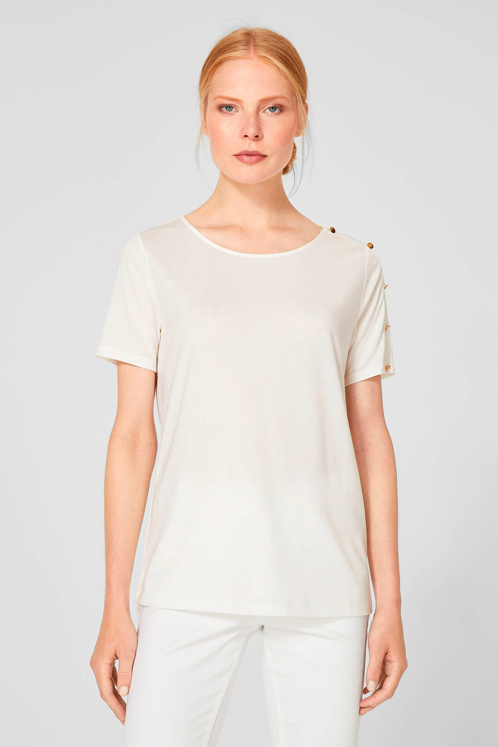 s.Oliver BLACK LABEL T-shirt ecru, Ecru