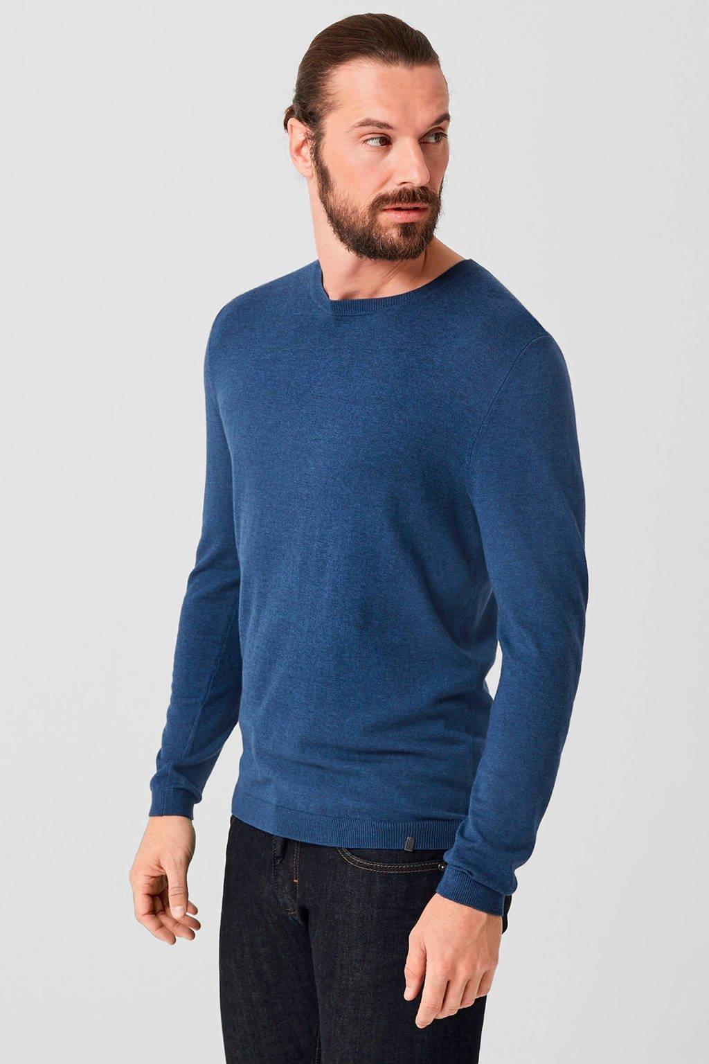 s.Oliver BLACK LABEL trui met wol donkerblauw, Donkerblauw
