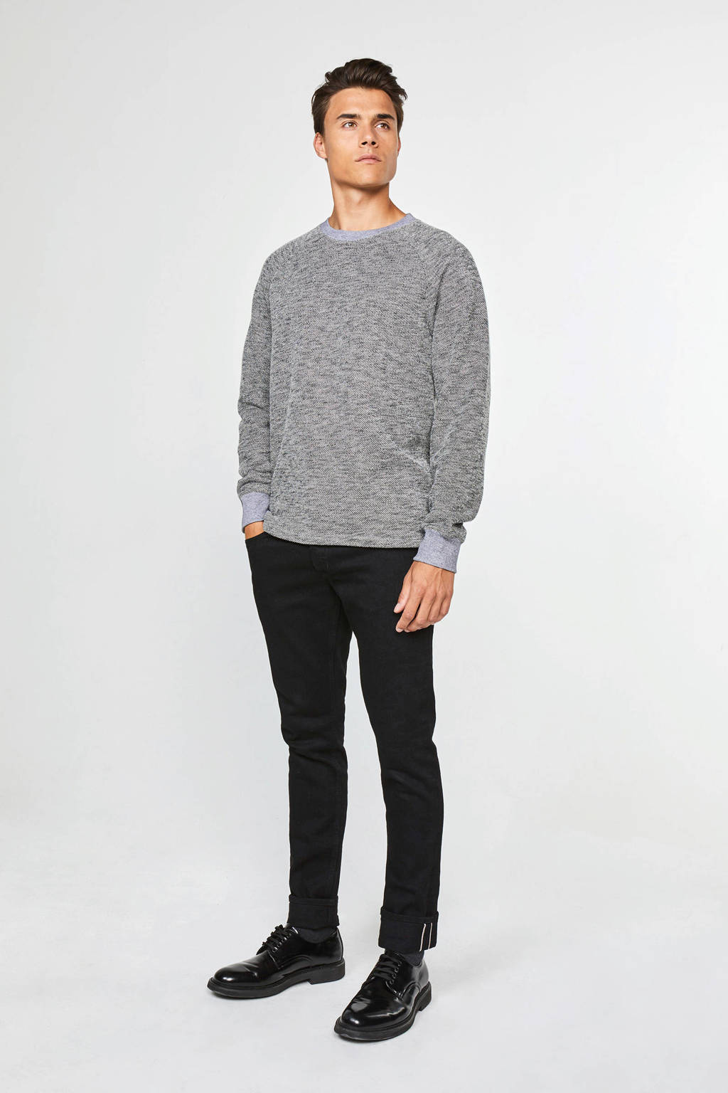 WE Fashion gemêleerde sweater grijs, Grijs