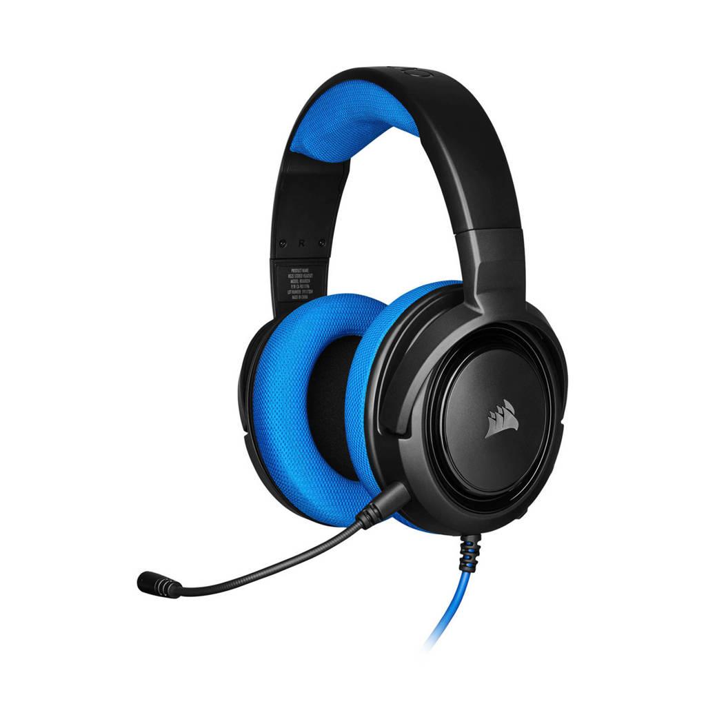 Corsair  HS35 gaming headset, Zwart, Blauw