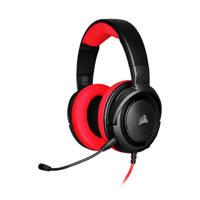 Corsair  HS35 Stereo gaming headset, Zwart, Rood