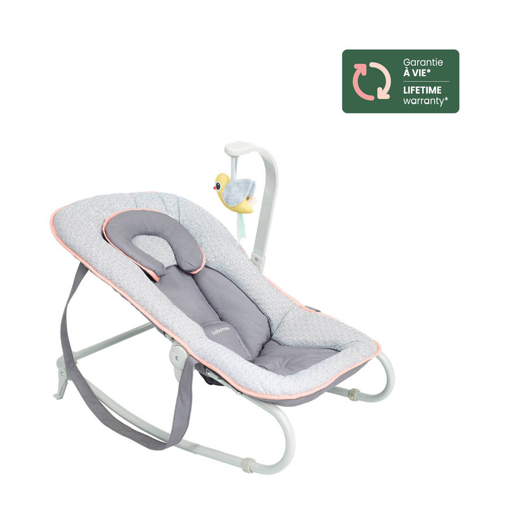 Babymoov Graphik ligstoeltje grijs/perzik, Grijs/perzik