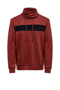 ONLY & SONS sweater donkerrood, Donkerrood