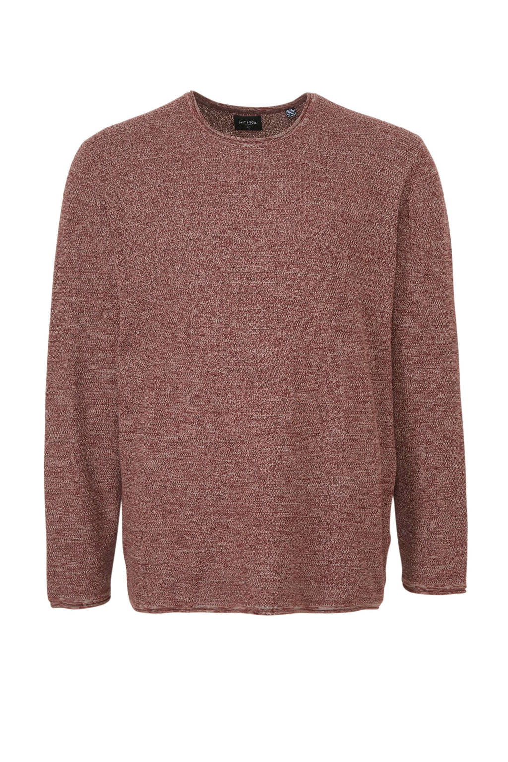 ONLY & SONS PLUS trui donkerrood, Donkerrood