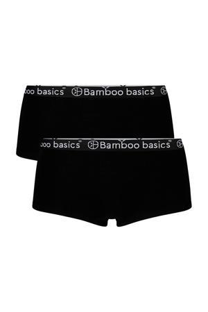 hipster Iris met bamboe (set van 2) zwart