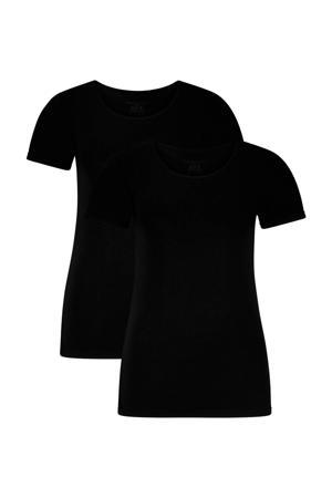 T-shirt Kate met bamboe (set van 2) zwart