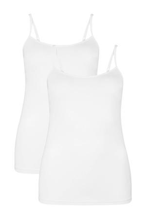 hemd Vera met bamboe (set van 2) wit
