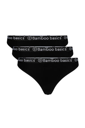 string Emma met bamboe (set van 3) zwart