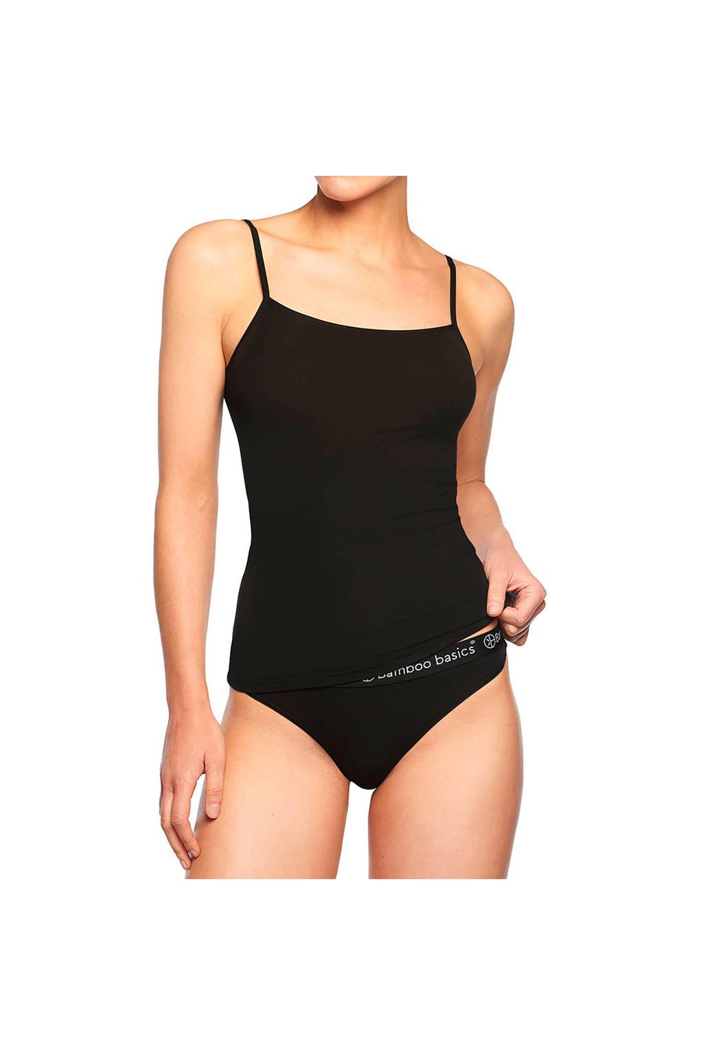 Bamboo Basics hemd Vera met bamboe (set van 2) zwart, Zwart