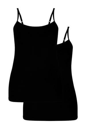 hemd Vera met bamboe (set van 2) zwart