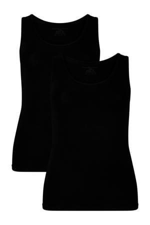 hemd Anna met bamboe (set van 2) zwart