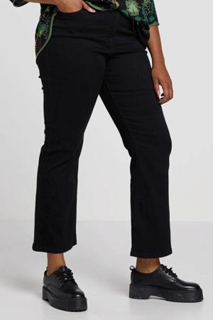 high waist bootcut jeans zwart