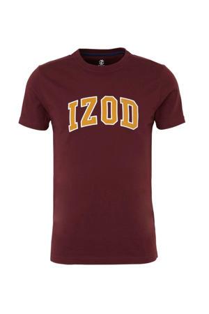 T-shirt met printopdruk donkerrood
