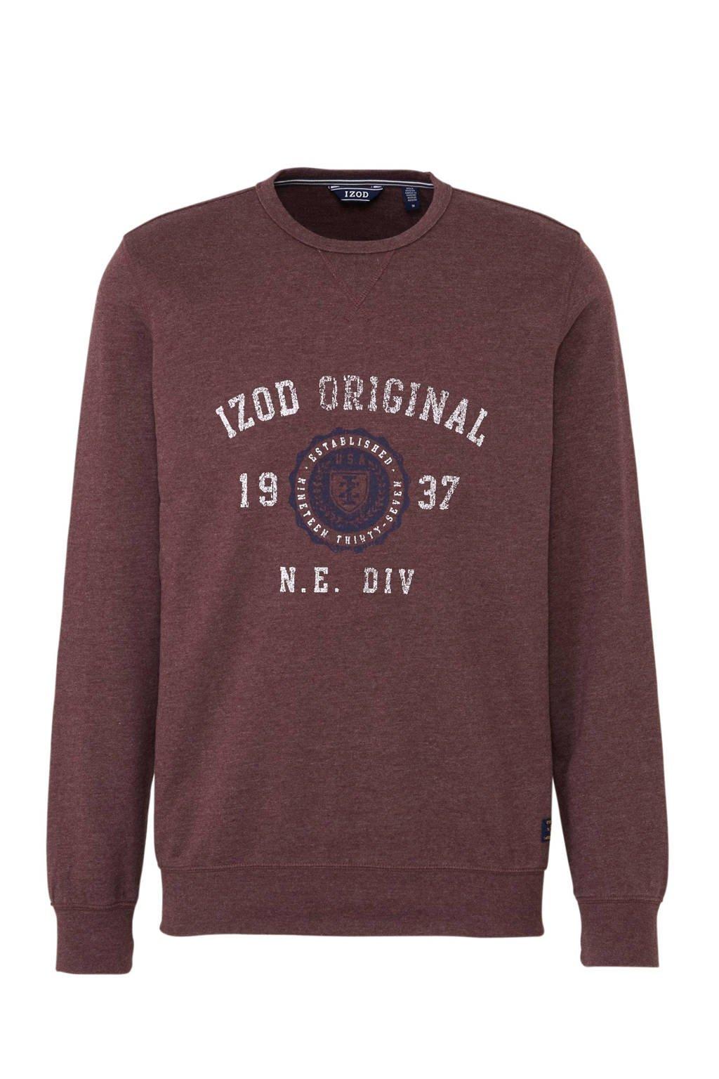 IZOD sweater met printopdruk donkerrood, Donkerrood