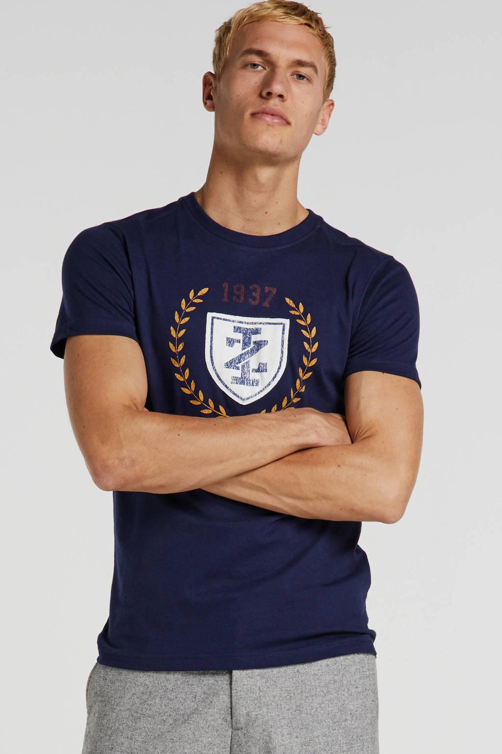 IZOD T-shirt met printopdruk donkerblauw, Donkerblauw