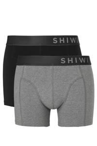 Shiwi boxershort (set van 2), Zwart/grijs