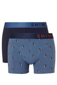 Shiwi boxershort (set van 2), Blauw/marine