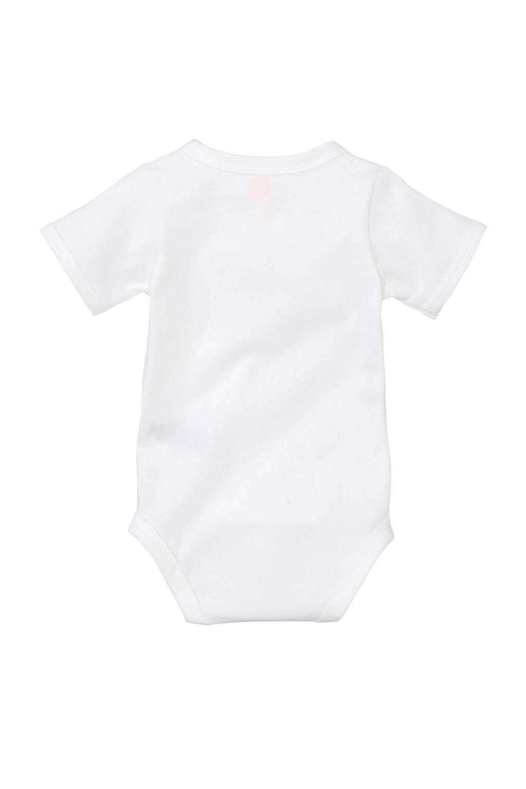 HEMA newborn overslagromper wit, Wit
