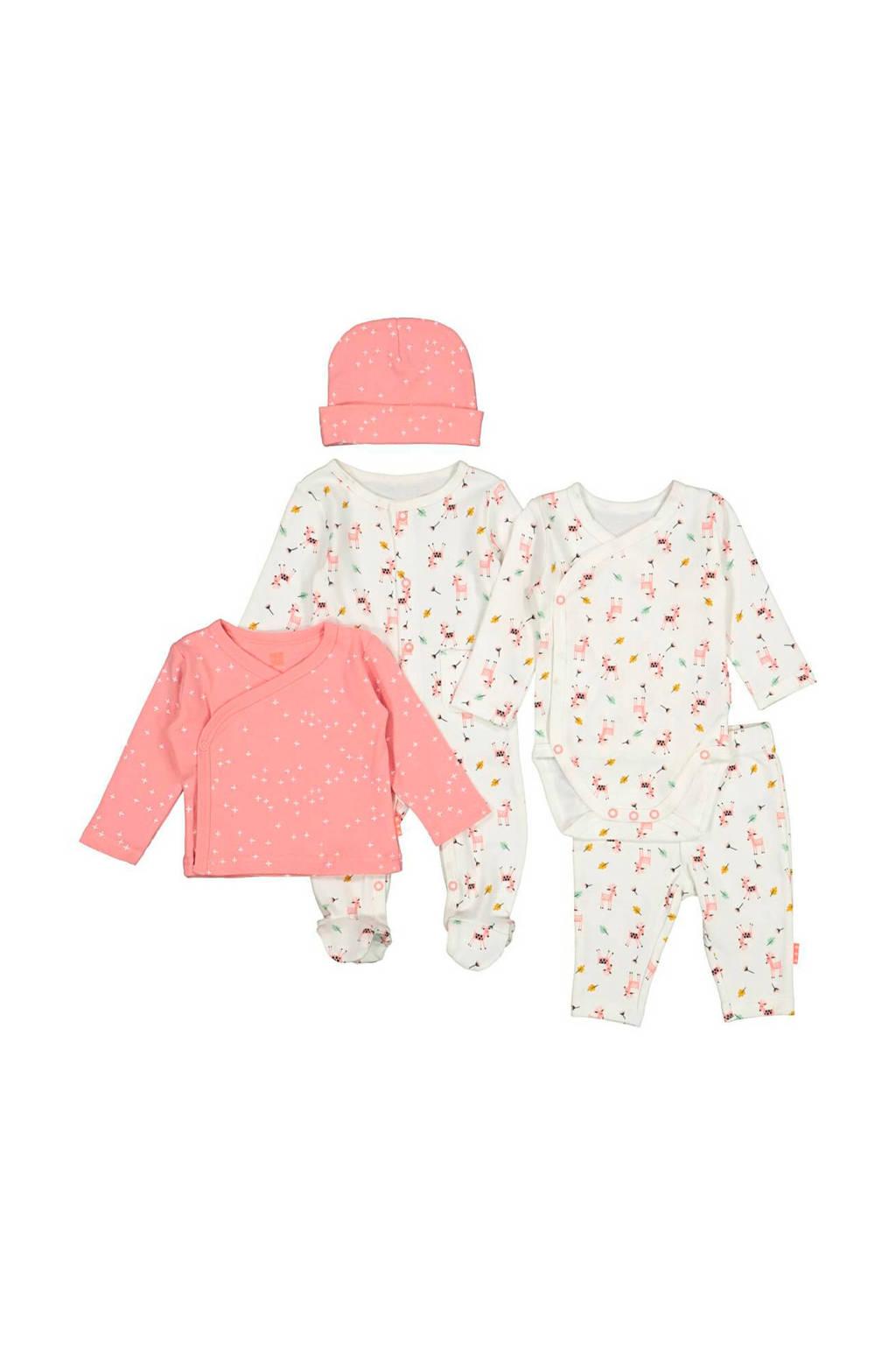 HEMA newborn giftset, Wit/roze