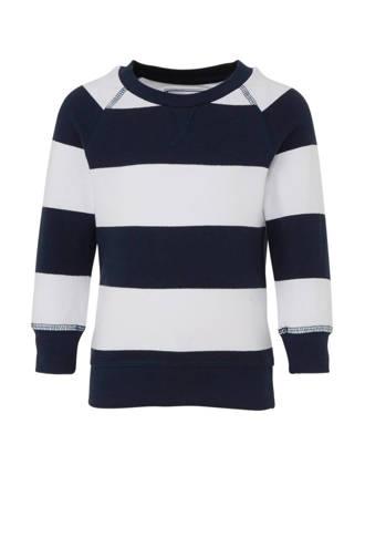 Palomino gestreepte sweater donkerblauw/wit