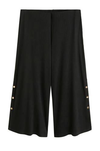 high waist culotte zwart