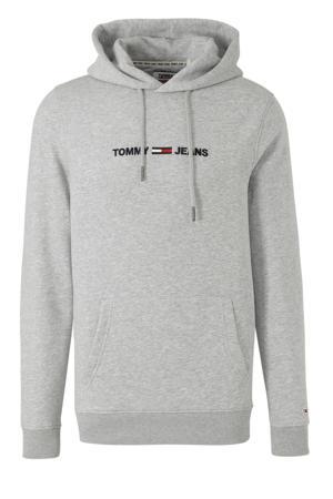 hoodie met logo en borduursels grijs