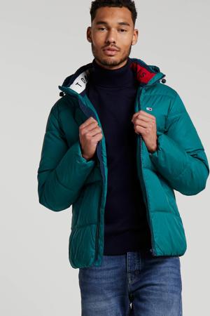 winterjas met logo groen