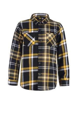 geruit overhemd geel/zwart/wit