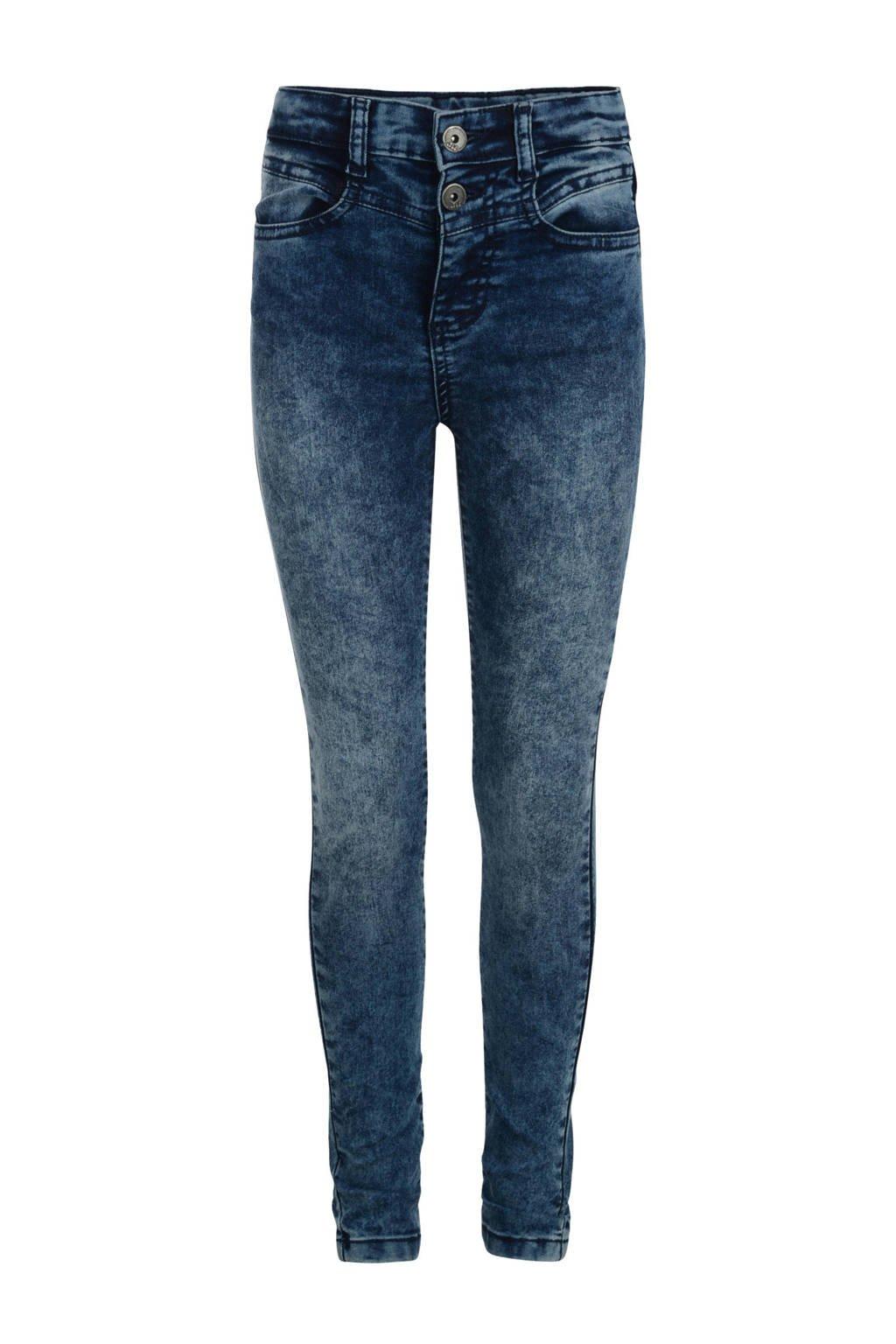 Jill & Mitch by Shoeby high waist slim fit jeans Chrissy midiumstone, MEDIUMSTONE