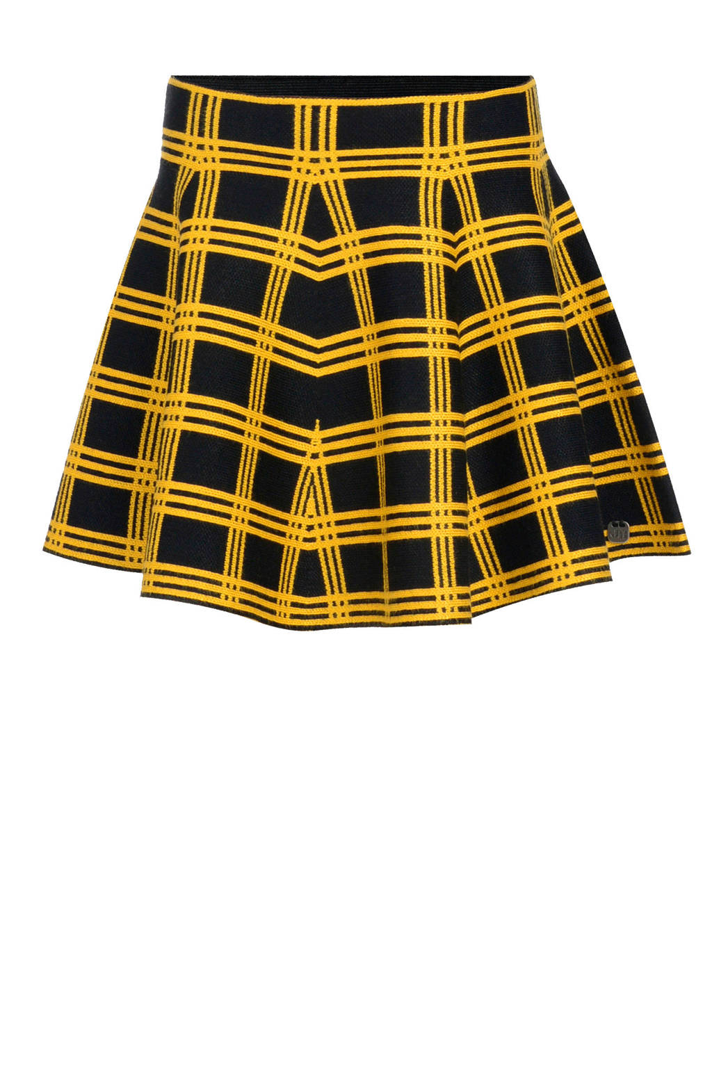 Jill geruite rok Brook zwart/geel, Zwart/geel