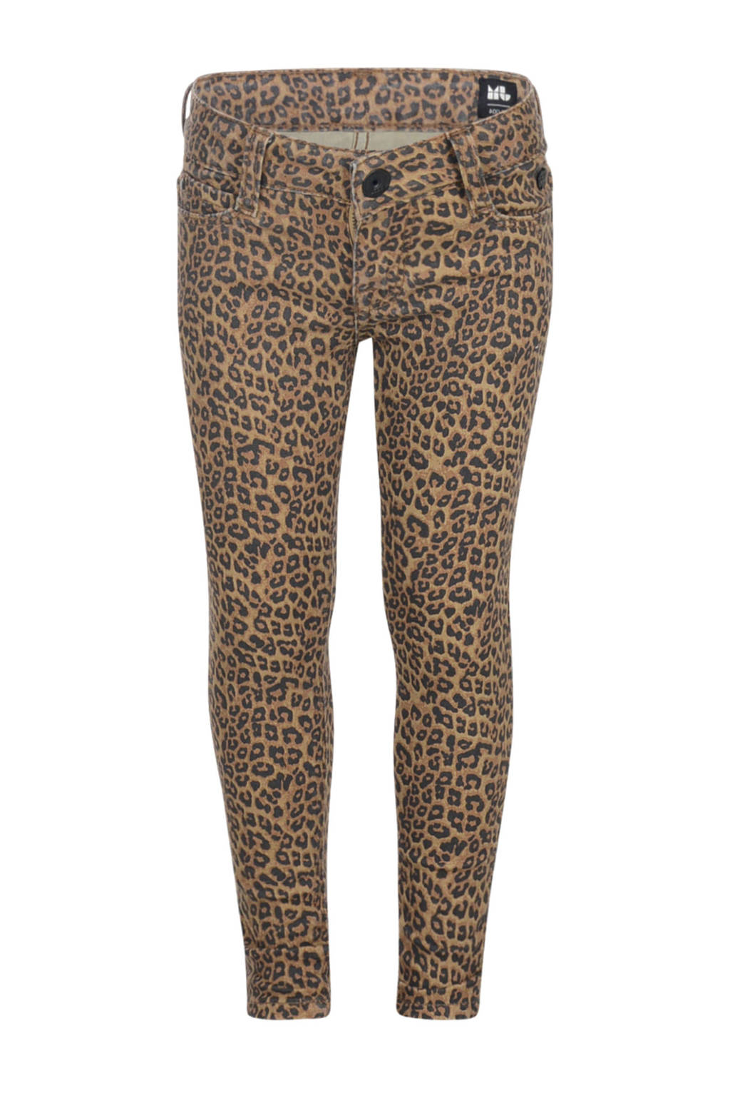 Jill skinny broek May met panterprint bruin/zwart, Bruin/zwart