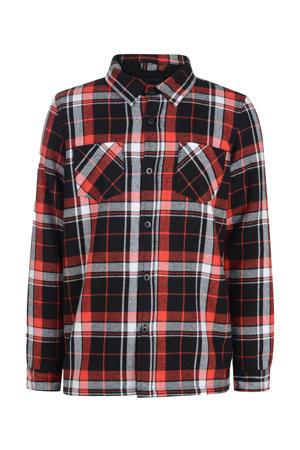 geruit overhemd Mio zwart/rood/wit