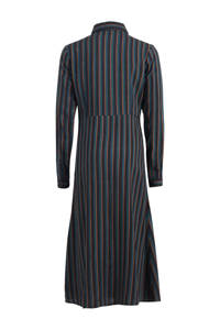 Jill gestreepte jurk Miona donkerblauw/zwart/oranje, Donkerblauw/zwart/oranje