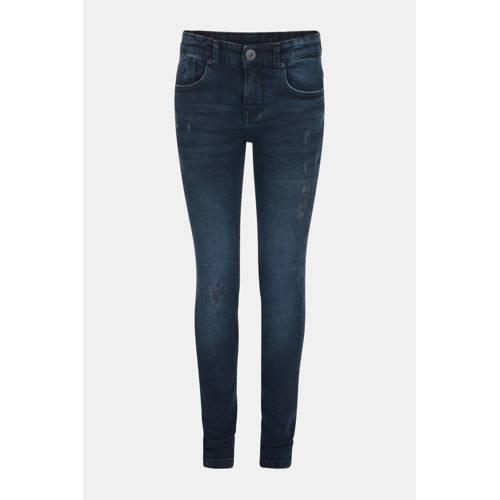 JILL MITCH skinny jeans Bruce met slijtage dark de