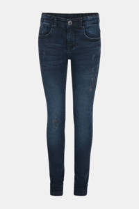 JILL MITCH skinny jeans Bruce met slijtage dark denim, Dark denim