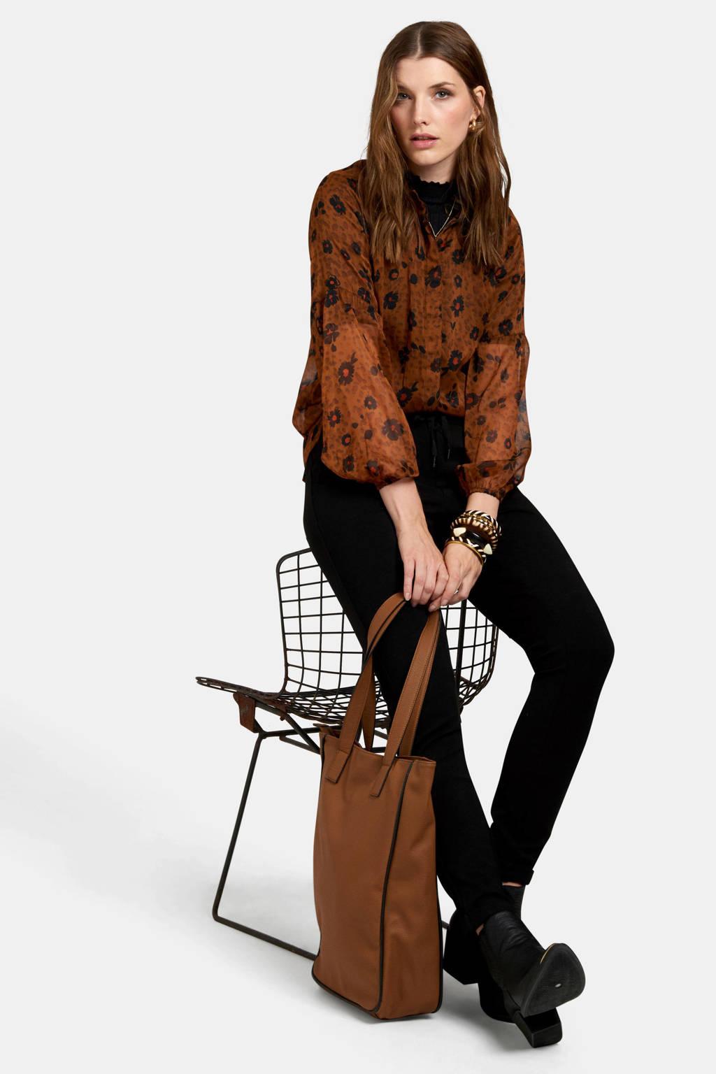 Eksept gebloemde blouse oranje, Oranje