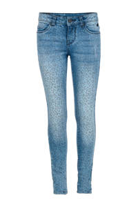 Jill skinny jeans Catie met panterprint, Stonewashed