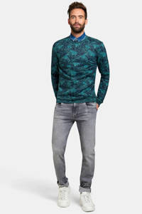 Refill by Shoeby sweater met all over print petrol, Petrol