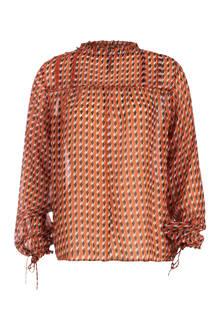 blouse met all over print fantasy
