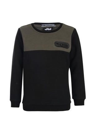 ribgebreide sweater Pepper zwart
